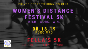 Women's Distance Festival 5K and Fella's 5K 2018 @ Lake Artemesia